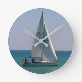 Swift-sailing boat in the Mediterranean Wall Clocks