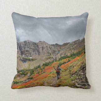 Swiftcurrent Pass - Glacier National Park Throw Pillow