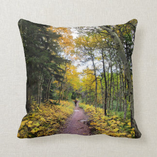 Swiftcurrent Pass Trail - Glacier National Park Throw Pillow