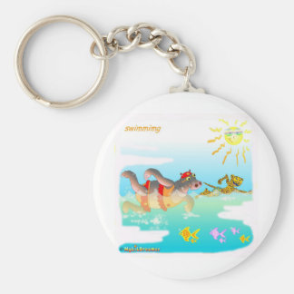 Swiiming gifts for kids keychain