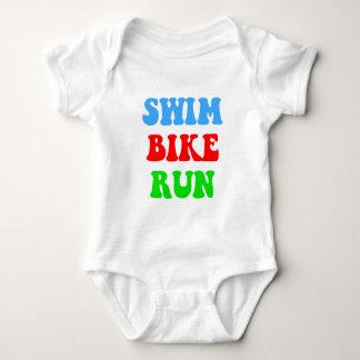 Swim Bike Run Baby Bodysuit