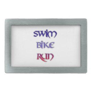 Swim Bike Run Belt Buckle