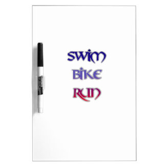 Swim Bike Run Dry-Erase Whiteboard
