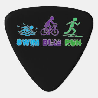 Swim Bike Run Ironman Triathlon Race Triathlete Guitar Pick