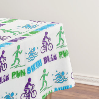 Swim Bike Run Ironman Triathlon Race Triathlete Tablecloth