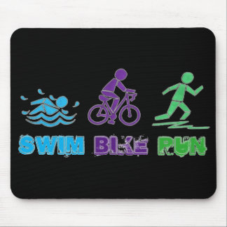 Swim Bike Run Marathon Triathlon Ironman Race Mouse Pad