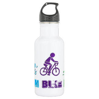 Swim Bike Run Triathlon Triathlete Ironman Race 532 Ml Water Bottle