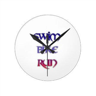 Swim Bike Run Wallclock