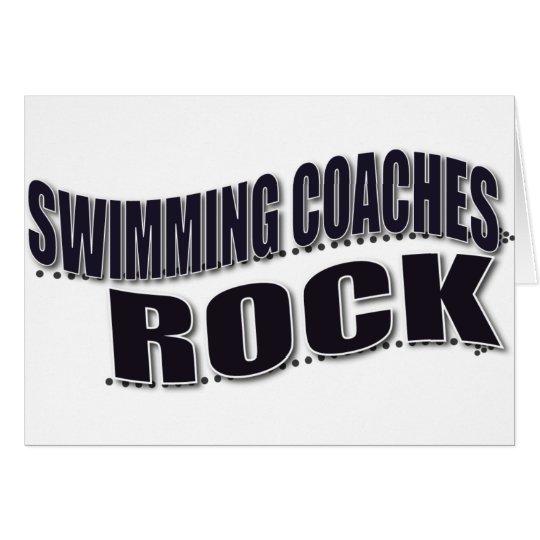 Swim Coach Gifts Card
