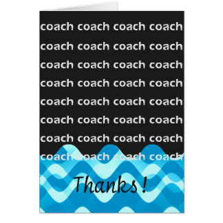 Swim Coach or Dive Coach Thanks Card