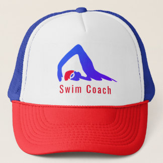 Swim coach - personalised with your words trucker hat