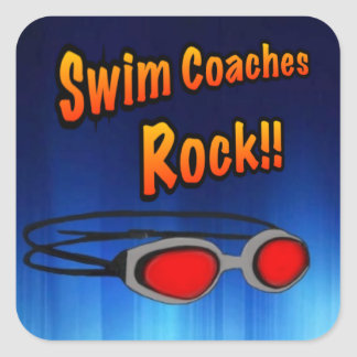 Swim Coaches Rock!! Square Sticker