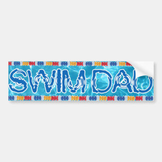 Swim dad bumper sticker