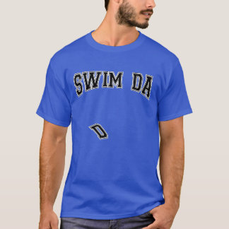 Swim dad falling E varsity tee