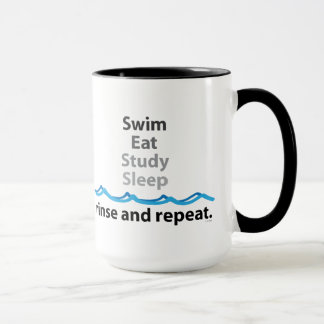 Swim Eat Study Sleep Mug