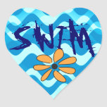 SWIM Flower Sticker
