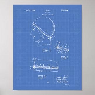 Swim Gap 1942 Patent Art Blueprint Poster
