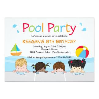 Swim Kids Pool Birthday Invitations │ Version Two