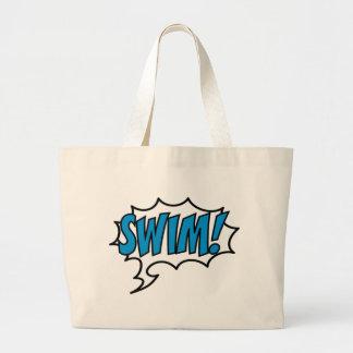 Swim! Large Tote Bag