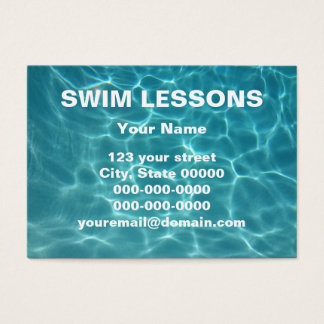 Swim Lessons Business Card