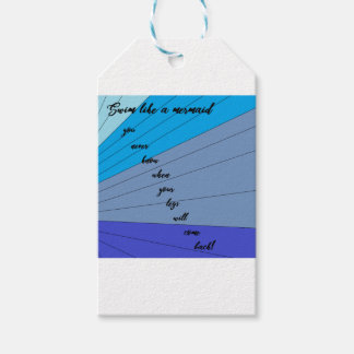 swim like a mermaid you never know when your legs gift tags