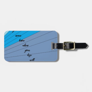 swim like a mermaid you never know when your legs luggage tag