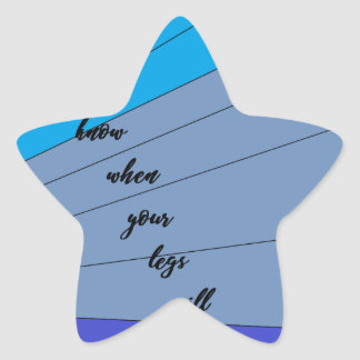 swim like a mermaid you never know when your legs star sticker