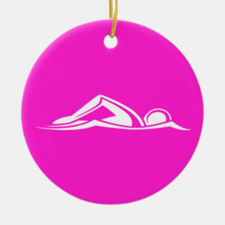 Swim Logo Ornament  Pink