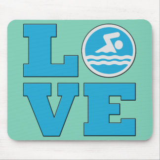 Swim Love For Competitive Swimmers or Coaches Mouse Pads