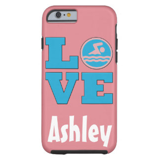 Swim Love IPhone 6 Case for Competitive Swimmers