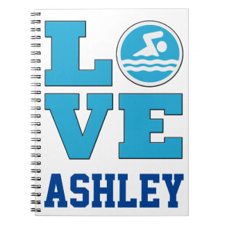 Swim Love Notebook for Competitive Swimmers and Sw