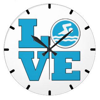 Swim Love Wall Clock