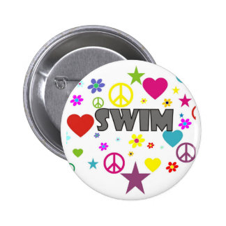 Swim Mixed Graphics 2 Inch Round Button