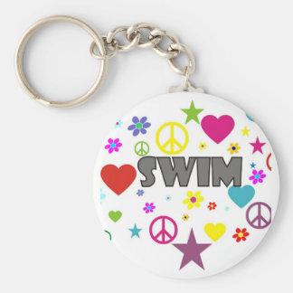 Swim Mixed Graphics Keychain