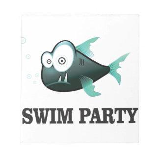 swim party crazy notepad