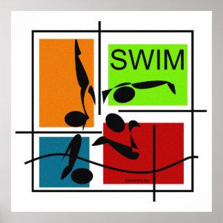 Swim Quartet Poster