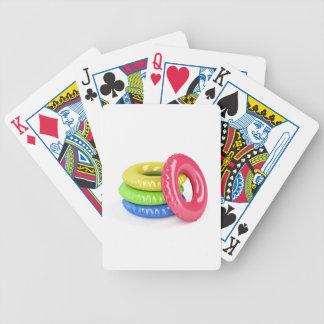 Swim rings bicycle playing cards