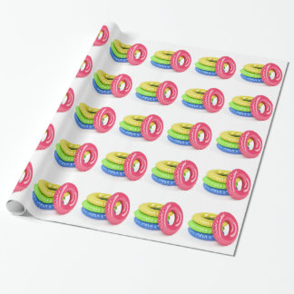 Swim rings wrapping paper
