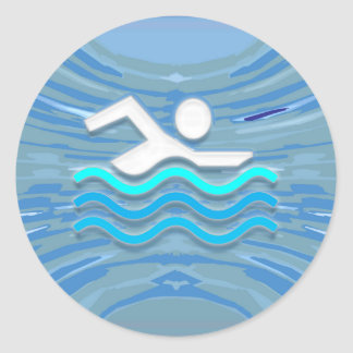 SWIM Swimmer Success Dive Plunge Success NVN238 Classic Round Sticker