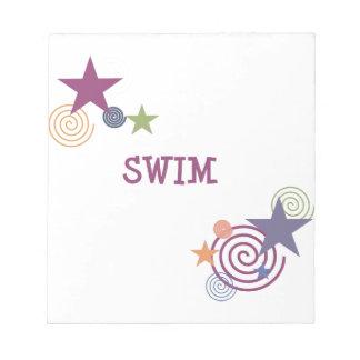 Swim Swirl Notepad