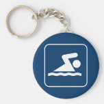 Swim Symbol Keychain
