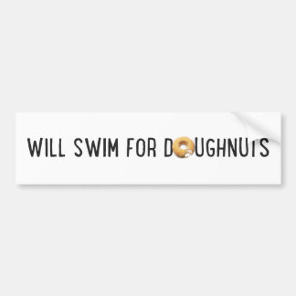 Swim Team, funny doughnuts, swimmer Bumper Sticker
