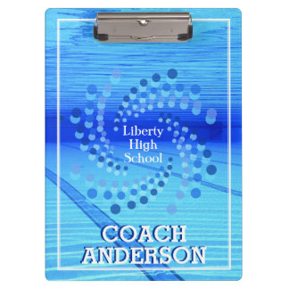 Swim Team w/ Swirling Dots Clipboards