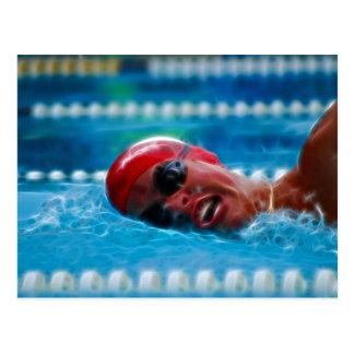 Swim to win postcard