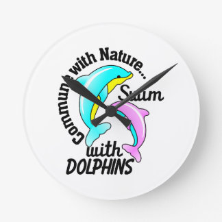 Swim With Dolphins Clocks