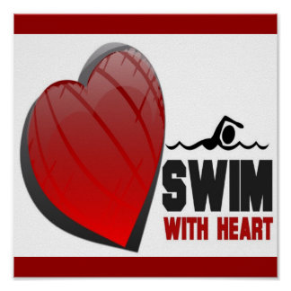 SWIM WITH HEART POSTER