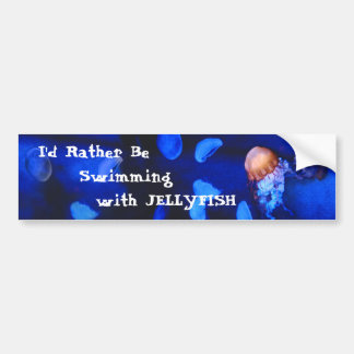 Swim with Jellyfish Bumper Sticker