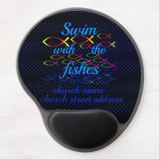 Swim with the fishes gel mouse pad
