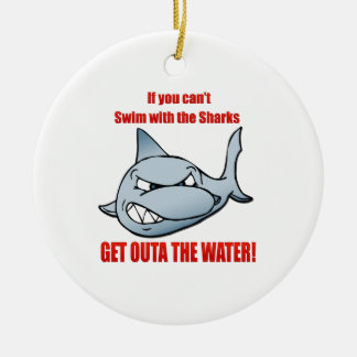 Swim with the Sharks Ceramic Ornament
