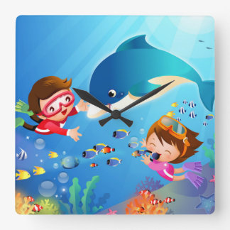 Swimabout Dolphin Wall Clock